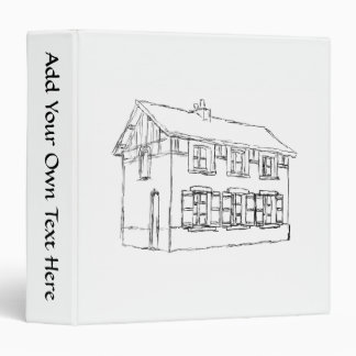Sketch of an Old House, with Shutters. Vinyl Binder