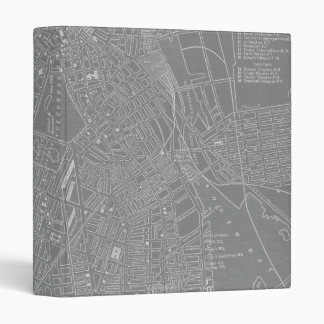 Sketch of Boston City Map 3 Ring Binder