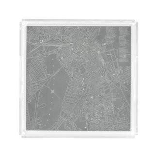 Sketch of Boston City Map Acrylic Tray