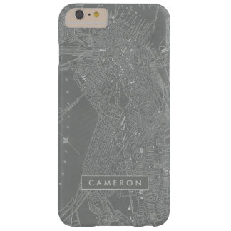 Sketch of Boston City Map Barely There iPhone 6 Plus Case