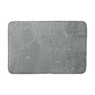 Sketch of Boston City Map Bathroom Mat