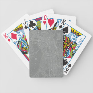 Sketch of Boston City Map Bicycle Playing Cards