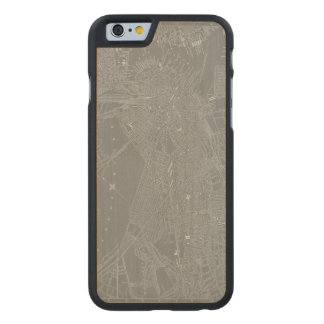 Sketch of Boston City Map Carved Maple iPhone 6 Case