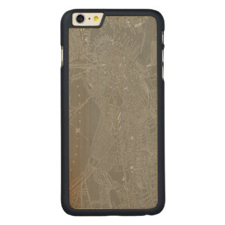 Sketch of Boston City Map Carved Maple iPhone 6 Plus Case