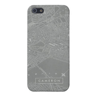 Sketch of Boston City Map Case For The iPhone 5