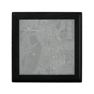 Sketch of Boston City Map Gift Box