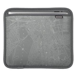 Sketch of Boston City Map iPad Sleeves