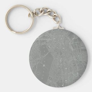 Sketch of Boston City Map Keychain