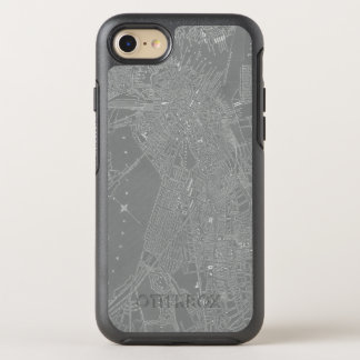 Sketch of Boston City Map OtterBox Symmetry iPhone 8/7 Case