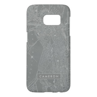 Sketch of Boston City Map Samsung Galaxy S7 Case