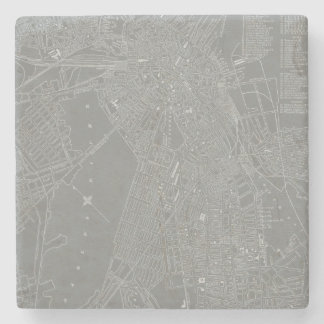 Sketch of Boston City Map Stone Coaster