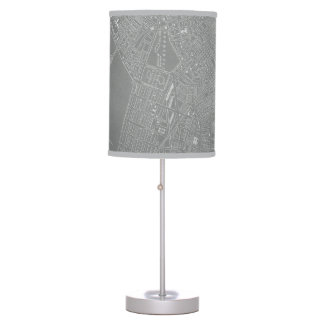 Sketch of Boston City Map Table Lamp