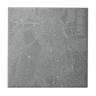 Sketch of Boston City Map Tiles