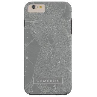 Sketch of Boston City Map Tough iPhone 6 Plus Case