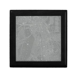 Sketch of Boston City Map Trinket Boxes