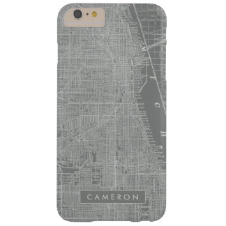 Sketch of Chicago City Map Barely There iPhone 6 Plus Case