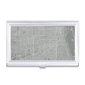 Sketch of Chicago City Map Business Card Holder