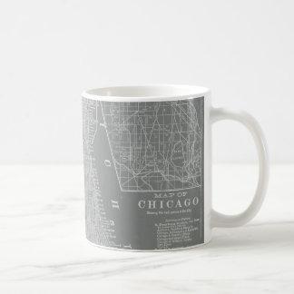 Sketch of Chicago City Map Coffee Mug