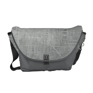 Sketch of Chicago City Map Courier Bag
