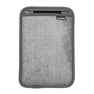 Sketch of Chicago City Map iPad Mini Sleeves