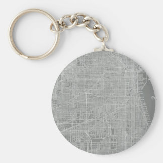 Sketch of Chicago City Map Keychain