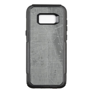 Sketch of Chicago City Map OtterBox Commuter Samsung Galaxy S8+ Case