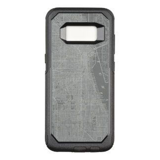 Sketch of Chicago City Map OtterBox Commuter Samsung Galaxy S8 Case