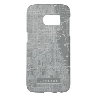 Sketch of Chicago City Map Samsung Galaxy S7 Case