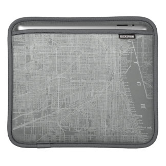 Sketch of Chicago City Map Sleeve For iPads