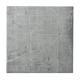 Sketch of Chicago City Map Tile
