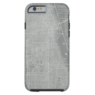 Sketch of Chicago City Map Tough iPhone 6 Case