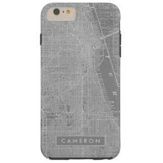 Sketch of Chicago City Map Tough iPhone 6 Plus Case