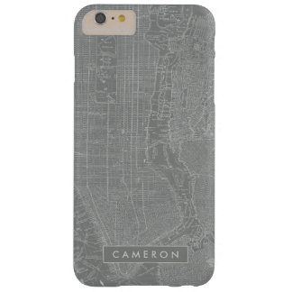 Sketch of New York City Map Barely There iPhone 6 Plus Case