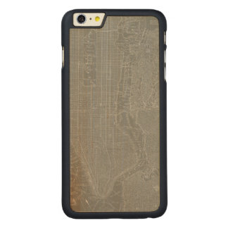 Sketch of New York City Map Carved® Maple iPhone 6 Plus Case