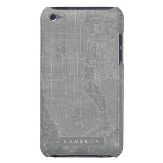 Sketch of New York City Map iPod Case-Mate Case