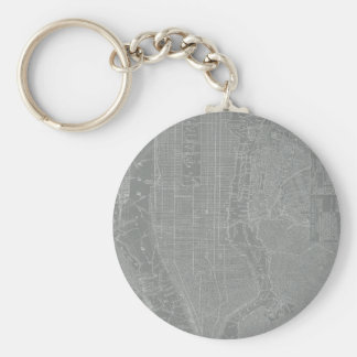 Sketch of New York City Map Keychain