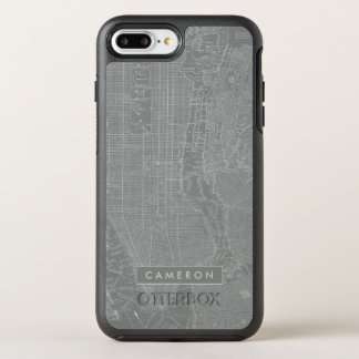 Sketch of New York City Map OtterBox Symmetry iPhone 8 Plus/7 Plus Case