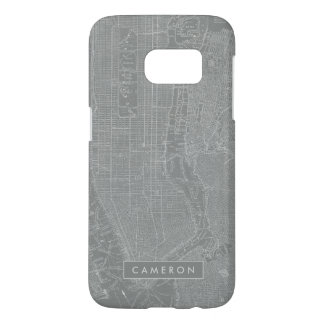 Sketch of New York City Map Samsung Galaxy S7 Case
