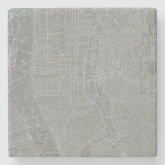 Sketch of New York City Map Stone Coaster