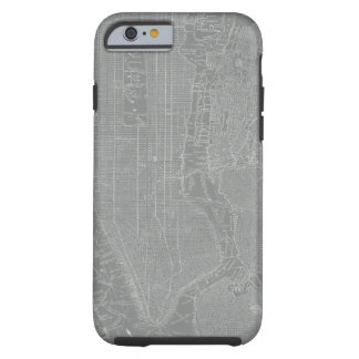 Sketch of New York City Map Tough iPhone 6 Case