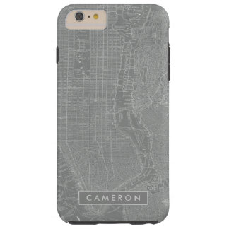 Sketch of New York City Map Tough iPhone 6 Plus Case