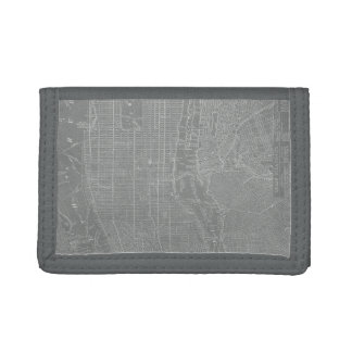 Sketch of New York City Map Trifold Wallet