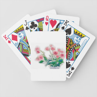 Sketch of Rose Bouquet Bicycle Playing Cards