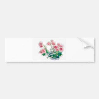 Sketch of Rose Bouquet Bumper Sticker