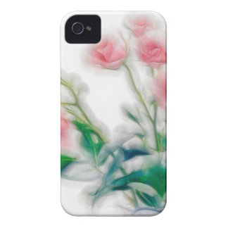 Sketch of Rose Bouquet iPhone 4 Case