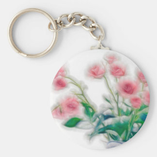 Sketch of Rose Bouquet Keychain