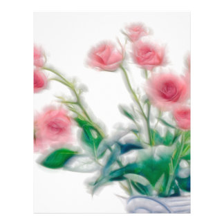 Sketch of Rose Bouquet Letterhead