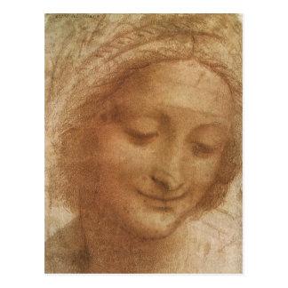 Sketch Portrait of Saint Anne by Leonardo da Vinci Postcard