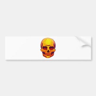 Sketch Skull Bumper Sticker