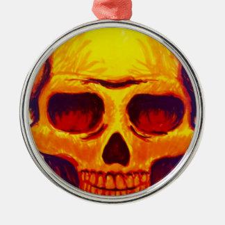 Sketch Skull Metal Ornament
